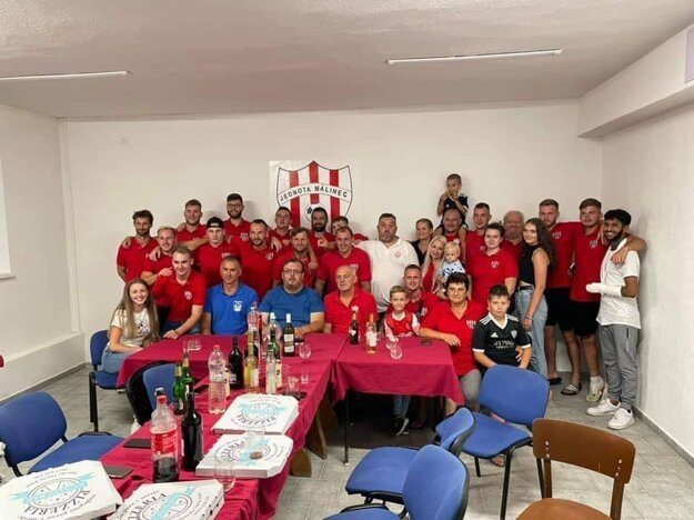 Takto sa Málinčania tešili po postupe do 2. kola Slovnaft Cupu