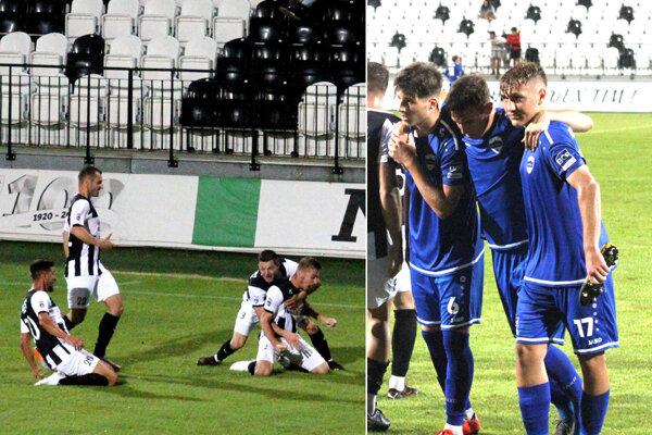 Radosť Myjavčanov po víťaznom góle v 90. minúte bola obrovská. Mladí Nitrania tak vyšli naprázdno.