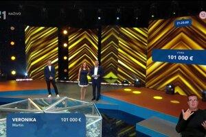 Veronika z Martina vyhrala 101 000 eur.