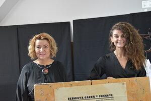 Ľudmila Kónyová (vľavo) a Zuzana Kmeciková.