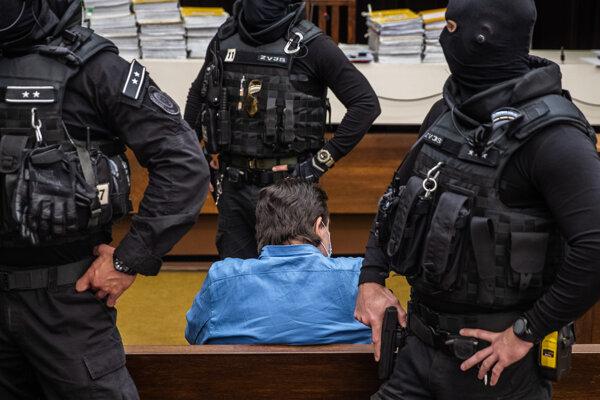 Marian Kočner počas pojednávania v kauze Kuciak na Najvyššom súde.