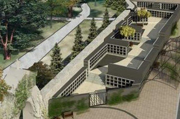 Takto má vyzerať kolumbárium pri hlavnom mestskom cintoríne.