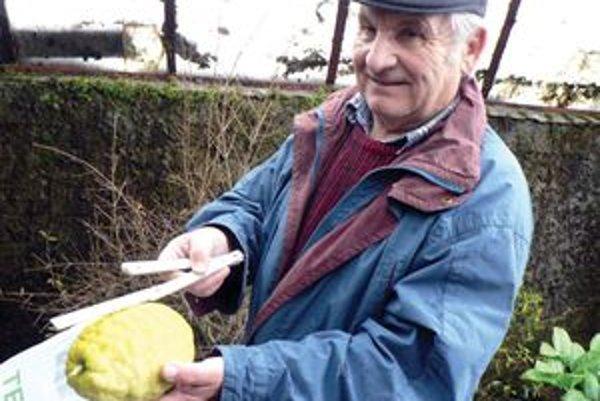 Arpád Biely pestuje exotické ovocie v skleníku už 35 rokov.