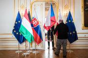 Summit V4 na Bratislavskom hrade z roku 2019, keď sa zúčastnila Angela Merkelová.