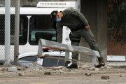 Následky atentátu v meste Cúcuta.