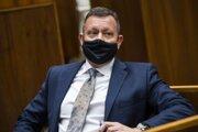 Špeciálny prokurátor SR Daniel Lipšic počas 40. schôdze NRSR.