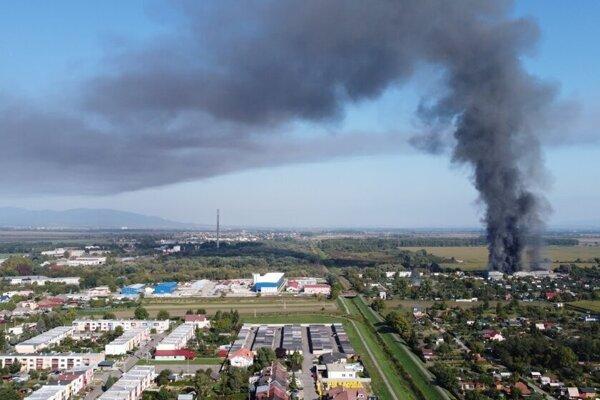 Najväčší požiar bol v nedeľu 26. septembra.