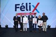 Víťazi ocenenia FéliX (zľava): Kellys Bicycles, Innovatrics a Bivio