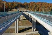 Tunel na novej prešovskej diaľnici - západnom obchvate mesta.