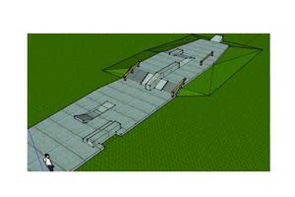 Budúci park pre skejtbordistov by mal byť v zadnej časti športového areálu ZŠ Štefánikova.