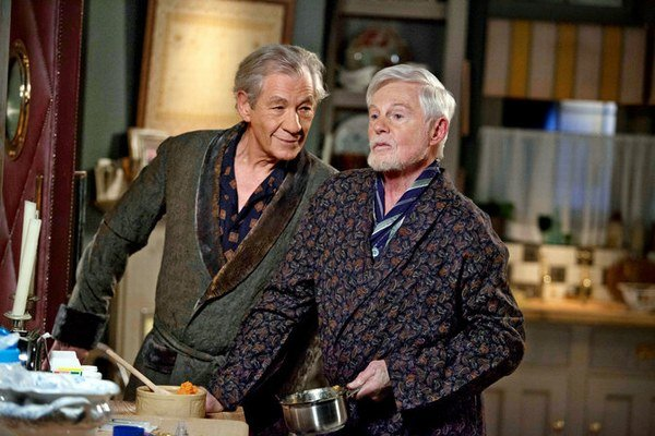 Ian McKellen a Derek Jacobi vo Vicious.