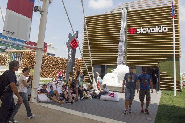 Slovenský pavilón na veľtrhu EXPO 2015 v Miláne.