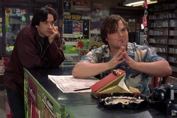 John Cusack (vľavo) a Jack Black vo filme High Fidelity.