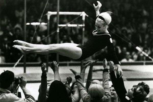 Věra Čáslavská v časoch najväčšej športovej slávy.