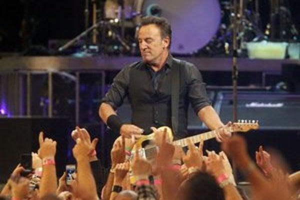 Bruce Springsteen počas koncertu v Madison Square Garden.