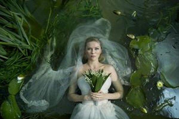 Kirsten Dunst v Melanchólii.