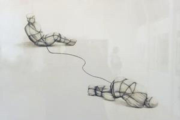 Maria Temnitschka (Rakúsko): Vzťah. Z výstavy najleoších diel Bienále kresby.