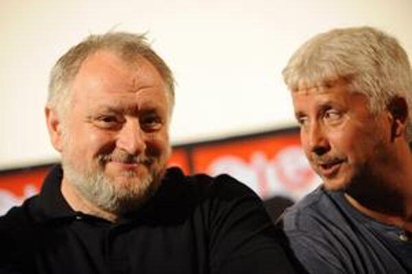 Režisér Martin Šulík (vľavo) a producent Rudolf Biermann sa rozhodli urobiť neobvyklé gesto.