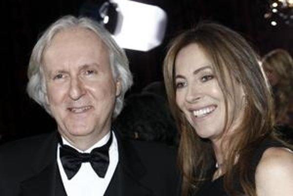 James Cameron so svojou bývalou manželkou, režisérkou  Kathryn Bigelow.