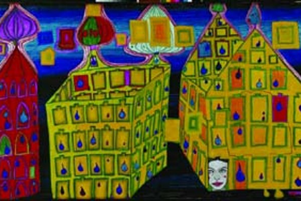 Z tvorby Hundertwassera.