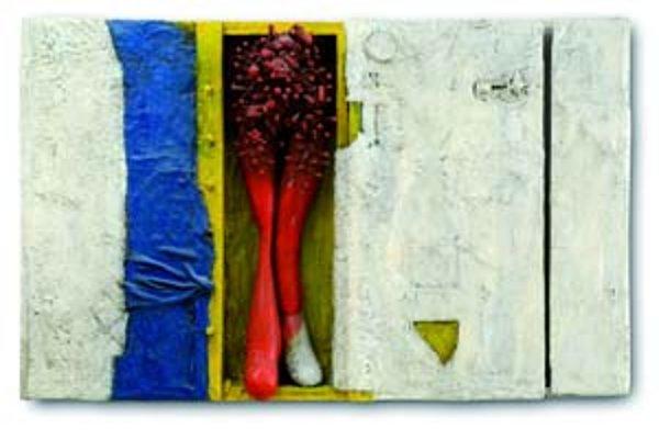 Rekordná dražba na 75. aukcii súčasného umenia. Dielo Jozefa Jankoviča Svedectvo V. bolo vydražené za 1 000 000 korún. To je najvyššia dosiahnutá konečná cena žijúceho slovenského autora v doterajšej histórii domácich aukcií.