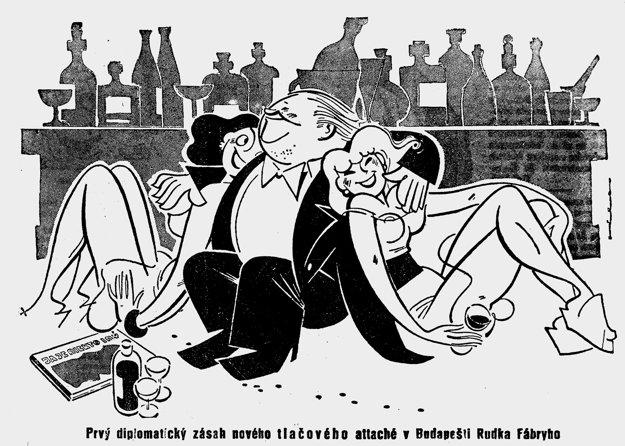 Karikatúry z časopisu Demokratickej strany Šidlo vraj bývali lepšie, než články. Autorom tejto je Viliam Weisskopf.