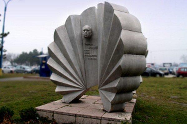 Pamätník Š. Baničovi na bratislavskom letisku M.R. Štefánika