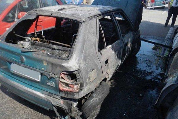 Jedno z áut, ktoré kompletne zhoreli.