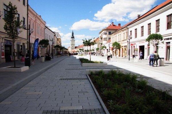 Hlavná ulica v Trnave.