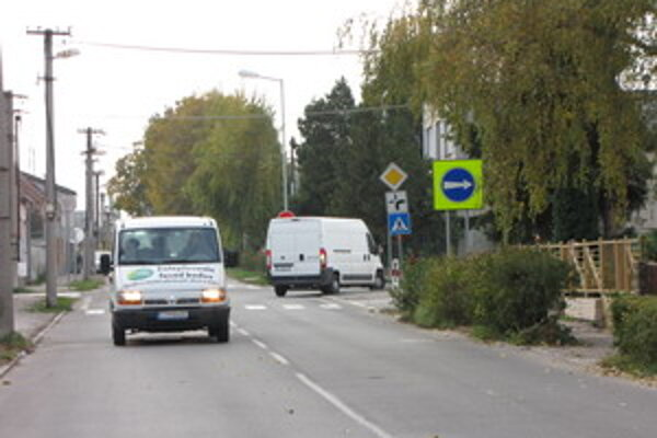 Slnečná ulica v Trnave.