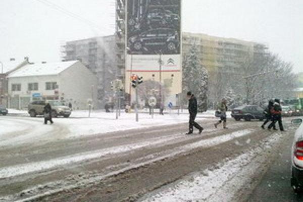 Križovatka na Hospodárskej.