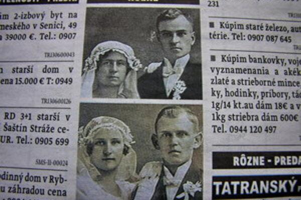 Pani Magda hľadá niekoho, kto pozná osoby na fotografiách.
