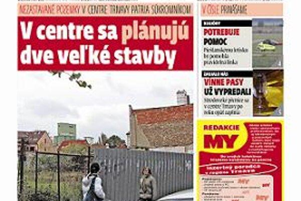Najnovšie vydanie MY Trnavské noviny.