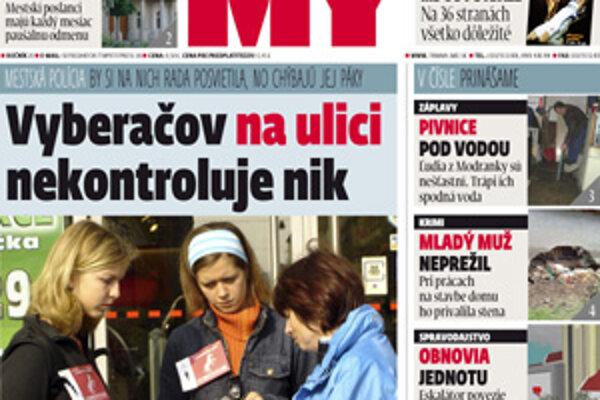 Aktuálne číslo týždenníka MY Trnavské noviny.