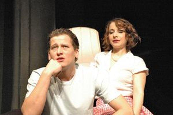 Záber z predstavenia inscenácie Tajomstvo Grety Garbo.