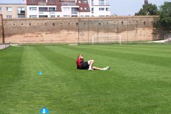 Juraj Križko počas tréningu Spartaka.