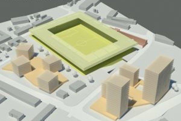 Takto by mal vyzerať štadión v Trnave a jeho okolie