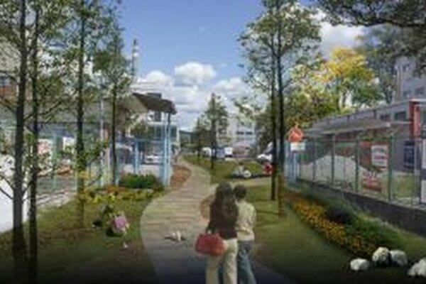 Projekt nového Zeleného parku.