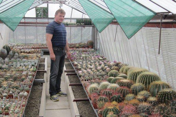 Vo svojej zbierke má 3000 kaktusov.