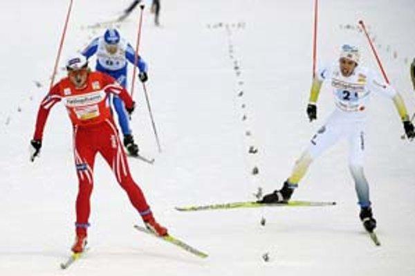 Petter Northug priviedol nórsku štafetu k víťazstvu.
