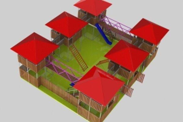 Vizualizácia pevnosti na Ostrove.