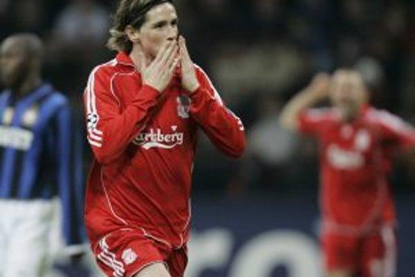 Fernando Torres v drese FC Liverpool.