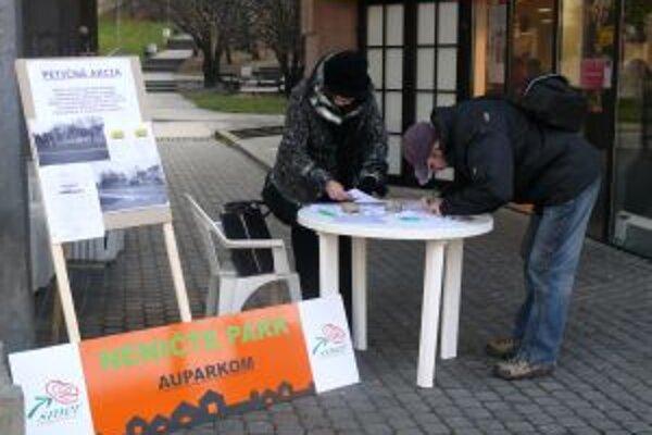 Trenčania sa už k umiestneniu Auparku vyjadrovali v petícii koncom minulého roka.