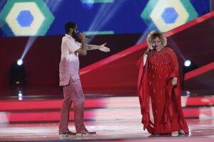 Brazílska speváčka Emicida a raper Alcione.