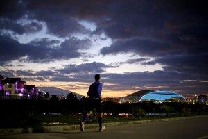 Východ slnka nad olympijským parkom.