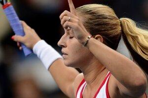 Slovenská jednotka Dominika Cibulková v prvom zápase Pohára federácie.