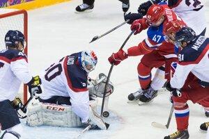 Slováci s Ruskom získali bod za prehru po samostatných nájazdoch.