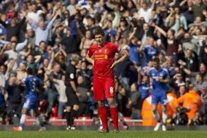 Smutný Steven Gerrard po zápase.