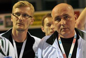 Zľava: Tréneri Tatran Prešov Martin Gernát a Stano Kolpak.