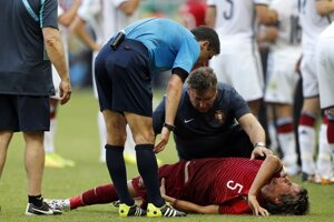 Zranený Fabio Coentrao.